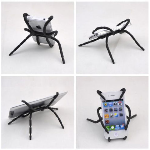 Flexible Spider Phone Holder Stand - Black - B49