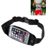 Waist Bag Sports Running Cover - Touch Screen Window - M - Reflective - Black - Fonus M55