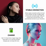 TWS Bluetooth Headphones Wireless Earphones Ear Hook Buds - Black - L95