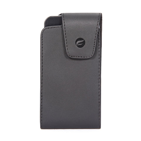 Leather Case Belt Clip Swivel Holster - Vertical Cover - LCASE21 - Black - Fonus D73