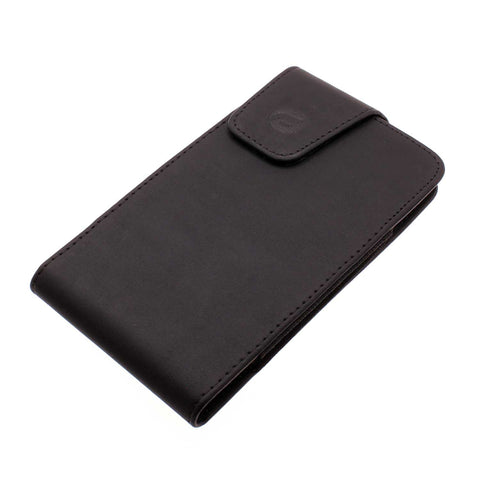 Leather Case Belt Clip Swivel Holster - Vertical Cover - LCASE36 - Black - Fonus M41
