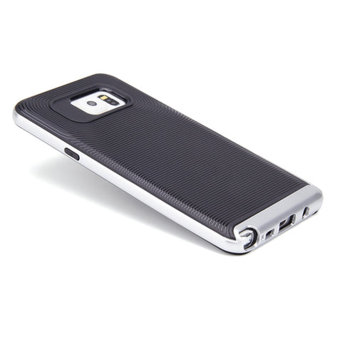 Hybrid Case Dual Layer Armor Defender Cover - Dropproof - Silver - Selna N79