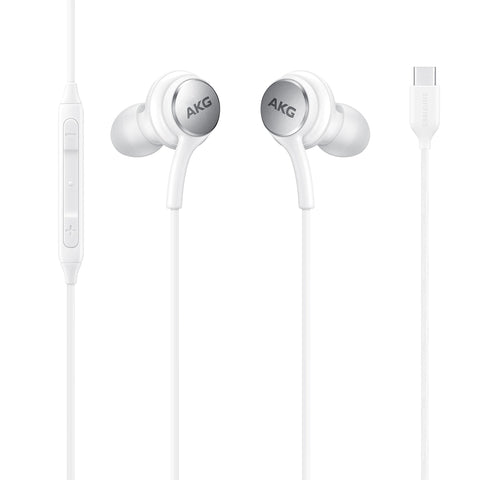 AKG TYPE-C Earphones Authentic Headphones USB-C Earbuds EO-IC100 w Mic - White