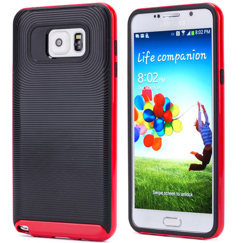 Hybrid Case Dual Layer Armor Defender Cover - Shockproof - Red - Selna N72