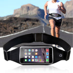 Black Sport Workout Belt Waist Bag Case