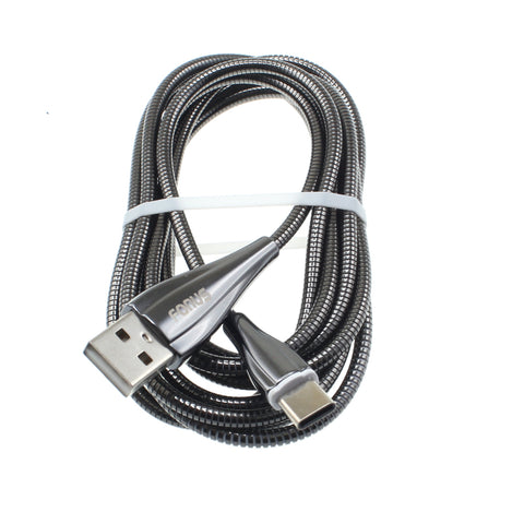 6ft USB-C Cable Charger Cord - Metal - Silver - Fonus R89