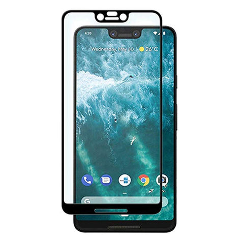 Google Pixel 3 XL - Tempered Glass Screen Protector - HD Clear - Curved - Full Cover