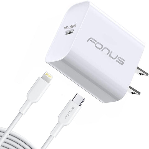 20W PD Home Charger Fast Type-C 6ft Long Cable Quick Power Adapter - ZDA81