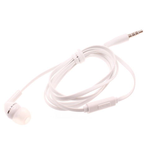 Mono Earphone 3.5mm Headphone - Flat - In-Ear - Single Earbud - White - Fonus F70