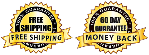 Free Shipping and 60 Day Money Back Guarantee