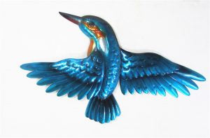 Kingfisher wings wall blue