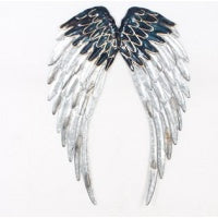 Blue silver angel wings