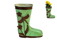 Gumboot planter small green