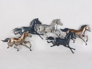 Horses galloping dark 5 wallart