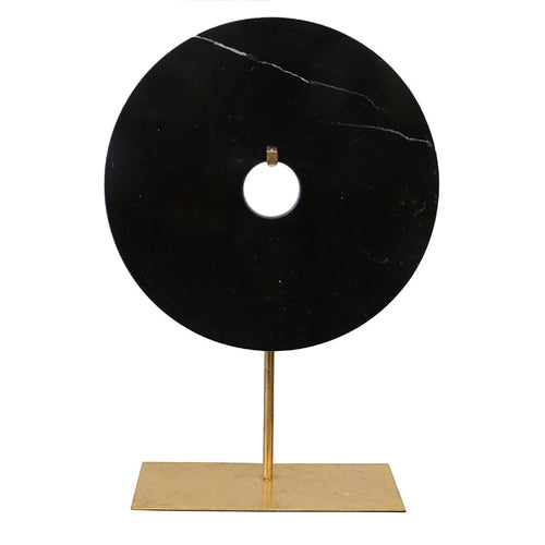 Black marble tablepeice circle