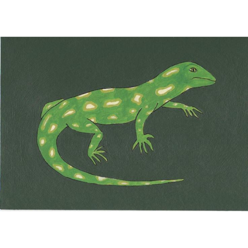 Green Gecko Rect Large Card