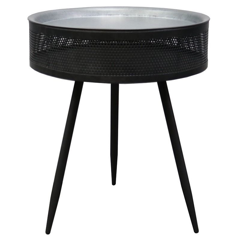 Grey side table round