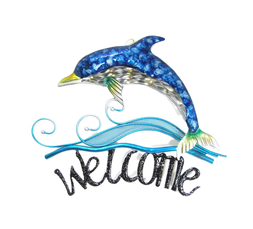 Dolphin welcome sign