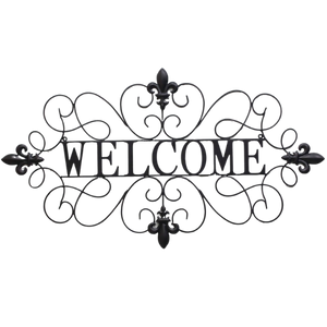 Welcome sign fleur de lis