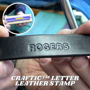 Craftic™ Letter Leather Stamp