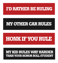 Load image into Gallery viewer, Keep Ruling Bumper Sticker 4-Pack