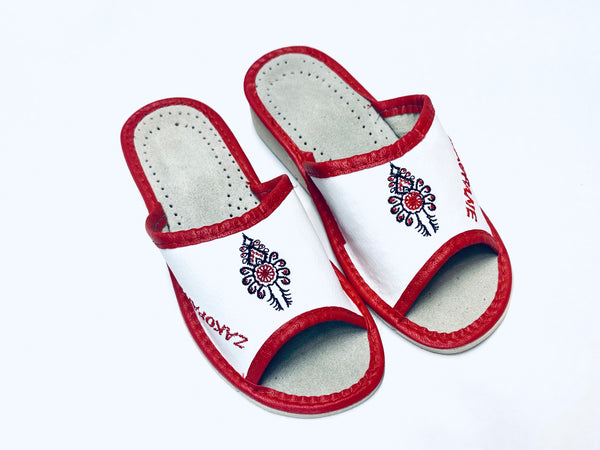 Women's Leather Slippers