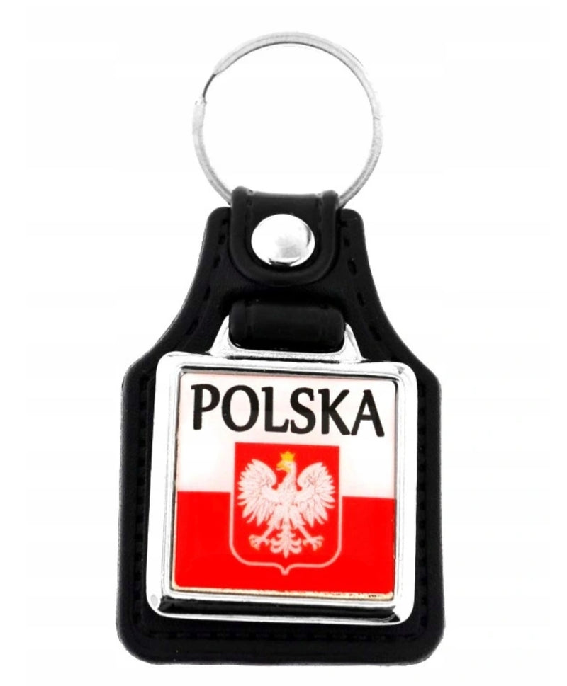 KEY-RING-BRELOK-BRELOCZEK-POLSKA-ORZEL-EAGLE-SKORA-LEATHER-POLISH-VIBES-GIFT-GALLERY-CHICAGO