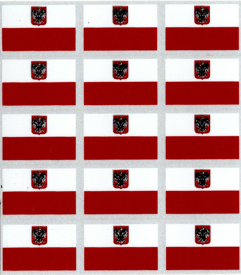 POLAND  FLAGS  Patriotic Sticker