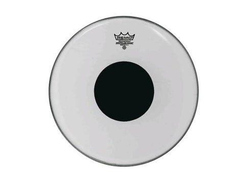 "Remo  6"" Clear Controlled Sound Black Dot"