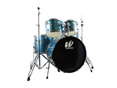 Westbury 5 PC Aqua Sparkle 20 BD Studio Drum Kit w/ Hardware