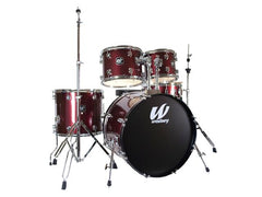 Westbury 5 PC Ruby Sparkle 20 BD Studio Drum Kit w/ Hardware