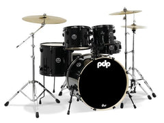 PDP Main Stage Black Kit HW and Cymbals Incl