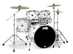 PDP Main Stage White Kit HW and Cymbals Incl