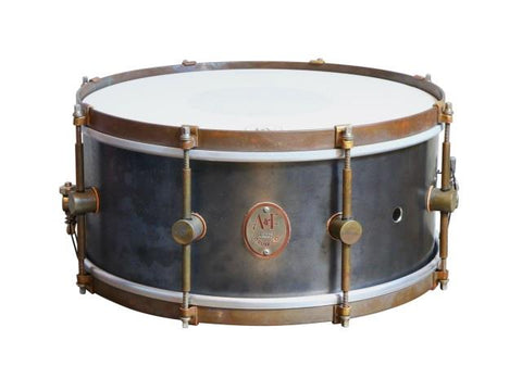 ANF Raw Steel Snare Drum 6.5X14