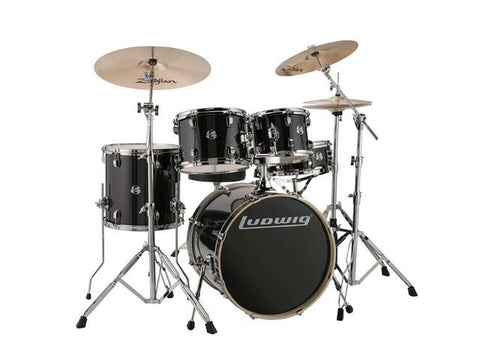 Ludwig 5 PC Evolution Element Black Sparkle