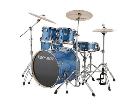 Ludwig 5 PC Evolution Element Blue Sparkle