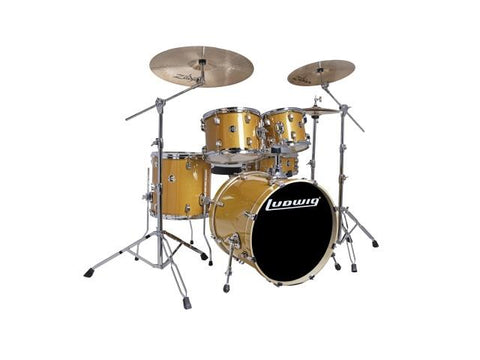 Ludwig 5 PC Evolution Element Gold Sparkle