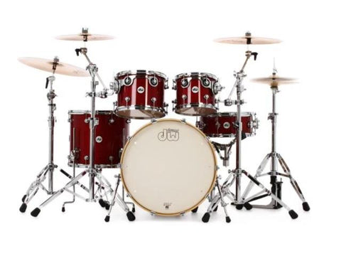 DW Design Series 5 Piece Shell Pack Cherry Stain