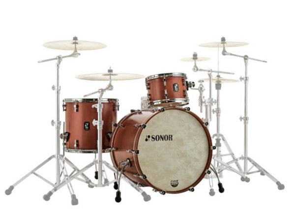 Sonor SQ1 3 Piece Shell Pack 320 Satin Copper Brown