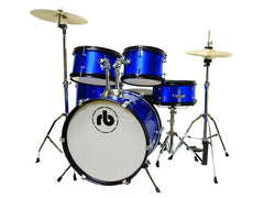 RB Junior Drum Kit 5pc Blue Sparkle