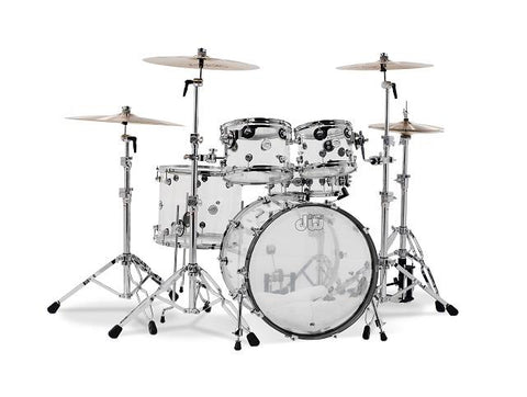DW Design Series 5 Piece Shell Pack Clear Acrylic