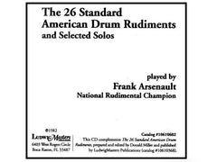 The 26 Standard American Drum Rudiments And Selected Solos