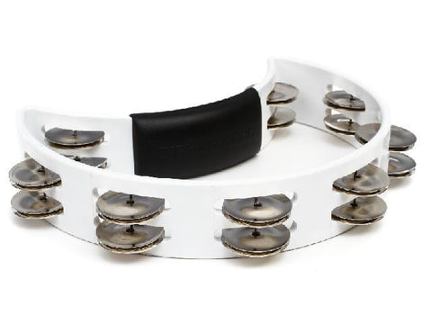 Rhythm Tech Tambourine, Nickel Jingles, White