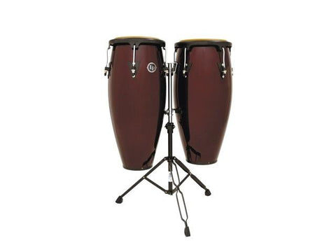 LP Dark Wood Conga Set