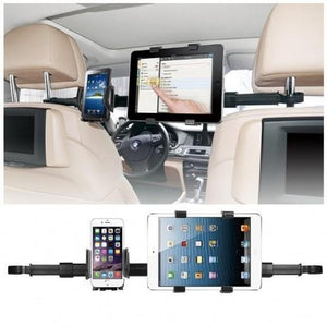 Car Back Seat Headrest Dual Gadget Mount