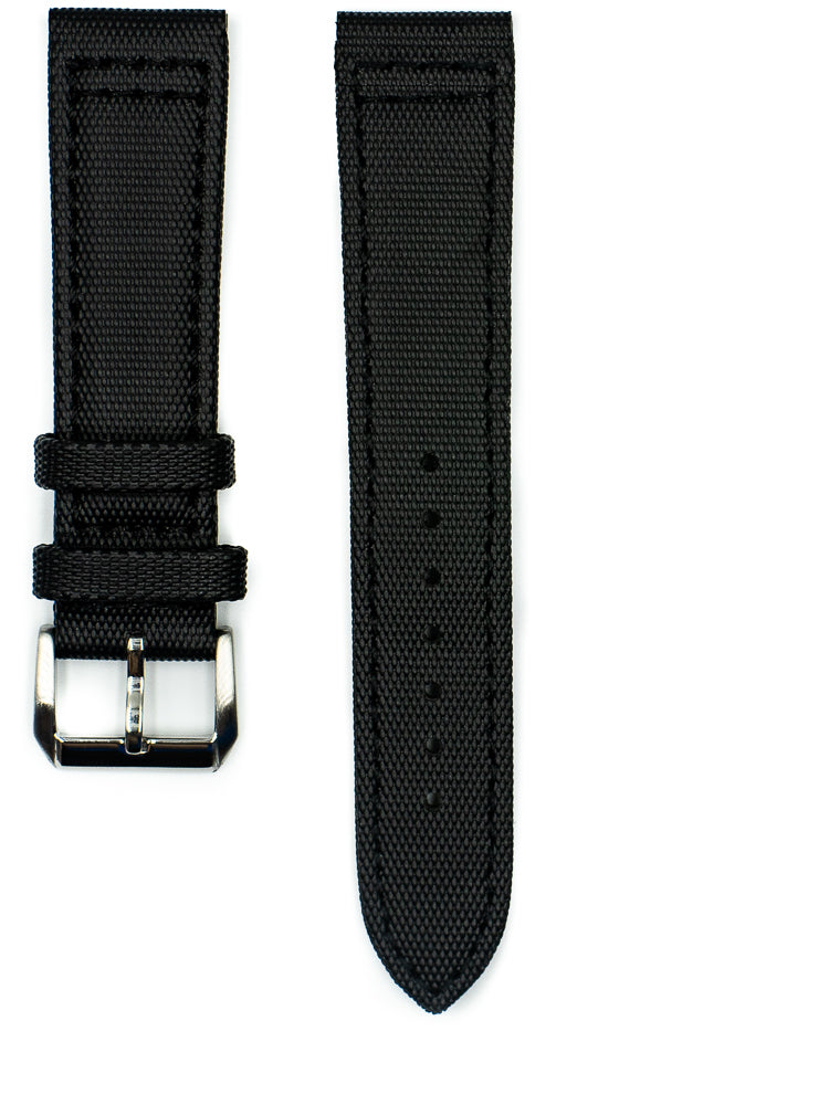 Tactical Sailcloth - Black (Black Stitches)