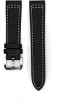 Tactical Sailcloth - Black (White Stitches)