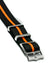 Blackbay Adjustable - Black with Orange Centerline