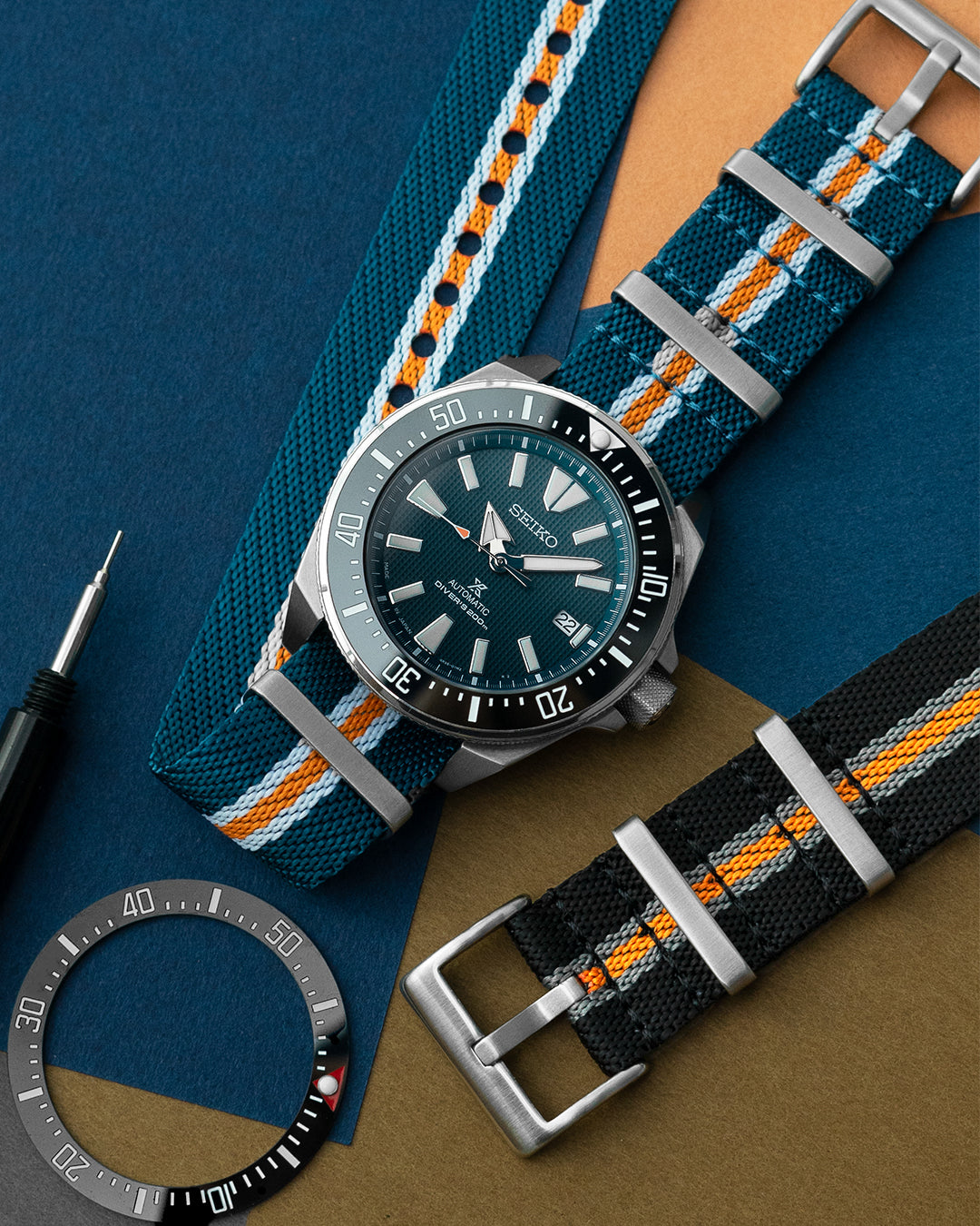 NATO M II - Monte Carlo (Blue/Orange/White)