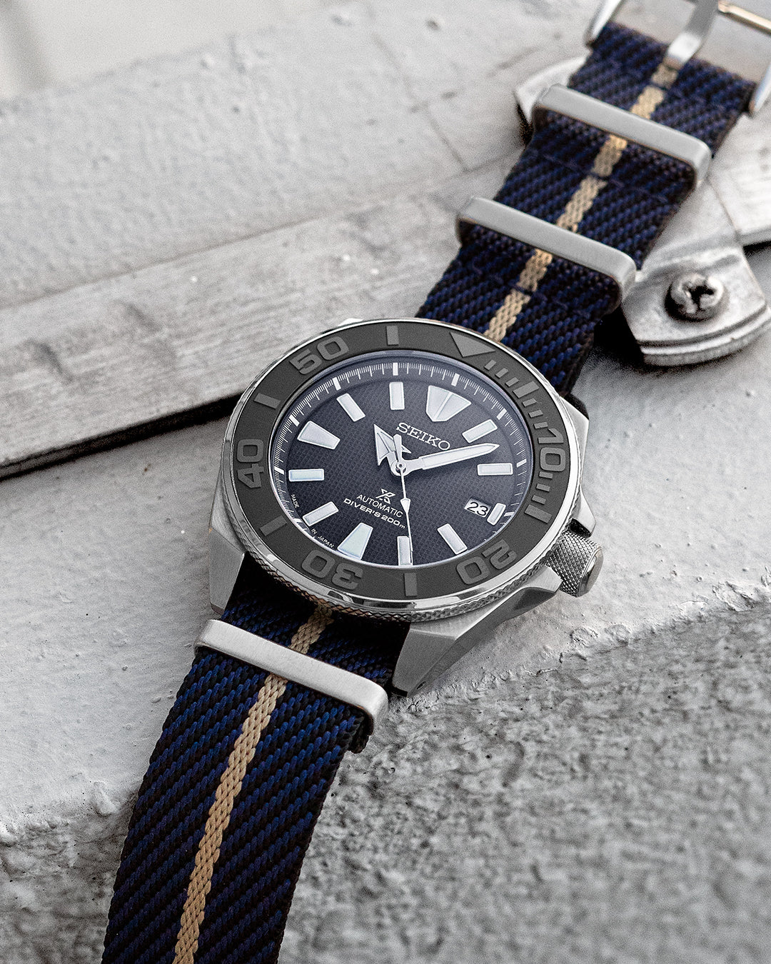 NATO M II - Midnight Blue with Khaki centerline